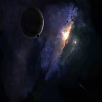 картинка о нереальных орбит, фантазии на счет Вселенной