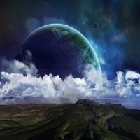 картинка про нереальных звезд, тема космоса