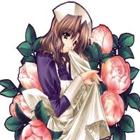 медсестра в бутонах роз