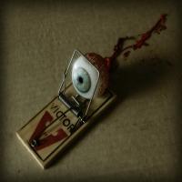 вырванный глаз в мышеловке