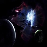 обои о нереальных планетах и возникновение Сверхновых, орбиты космичес