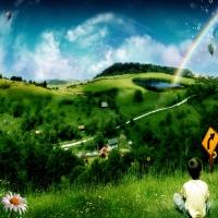3d изображения в стиле nature-art, представлены ирреальные события