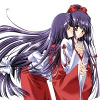 поцелуй двух девочек из аниме