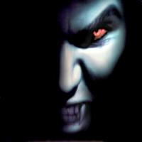 лик вампира и огненные глаза