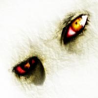 пергаментное лицо и кровавые глаза
