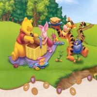 Винни Пух с друзьями на пикнике