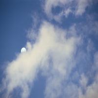 Светло-голубое небо c перистыми тучами, благодать